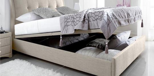 Хранение постельного белья в кровати или диване